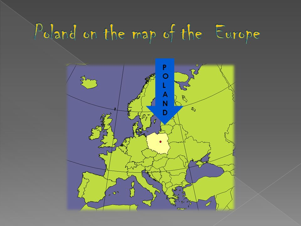 Poland on the map of the Europe
