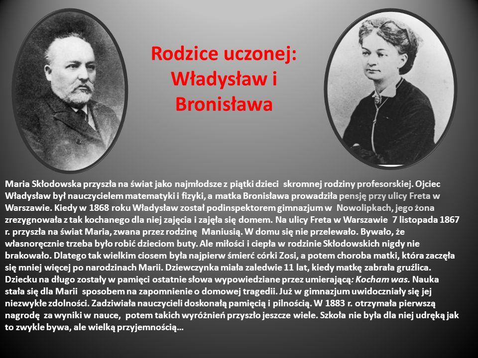 Rodzice uczonej: Władysław i Bronisława