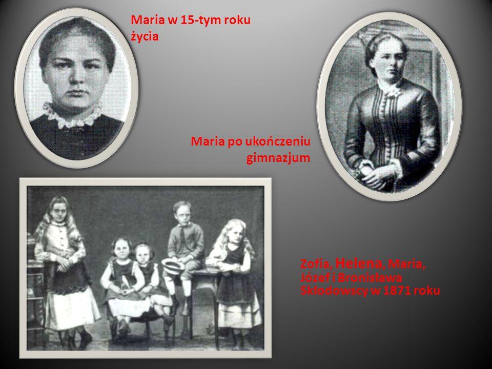 Maria po ukończeniu gimnazjum