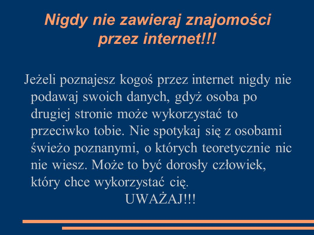 Nigdy nie zawieraj znajomości przez internet!!!
