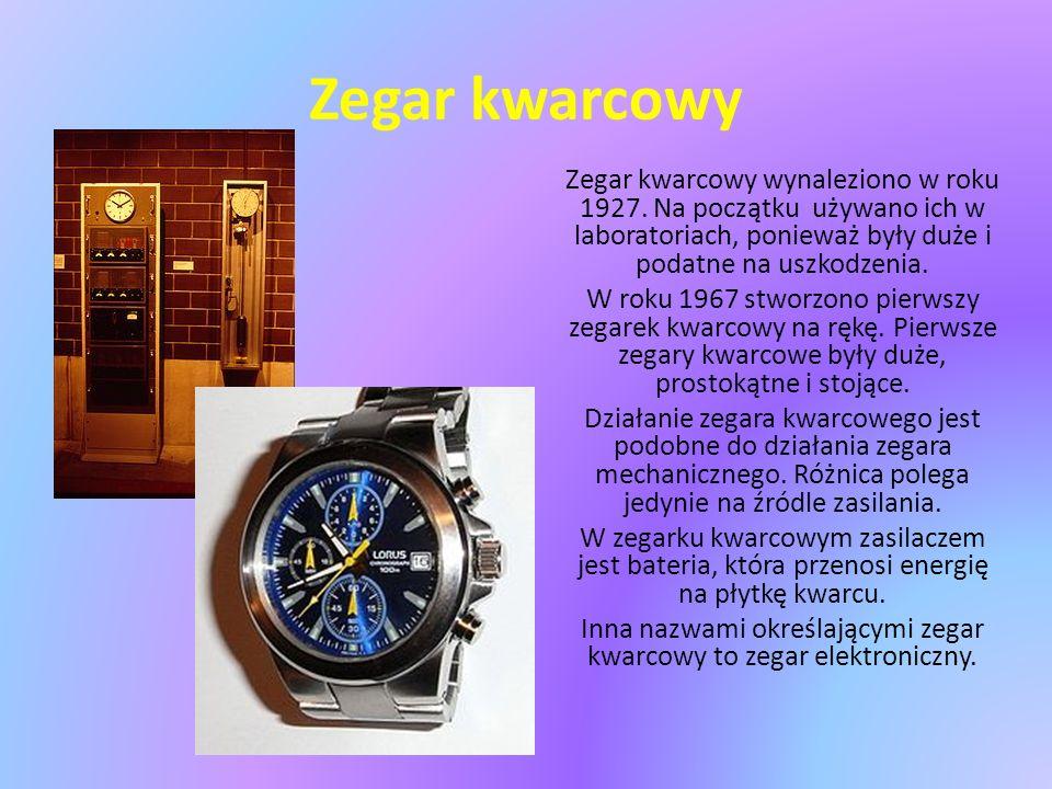 Inna nazwami określającymi zegar kwarcowy to zegar elektroniczny.
