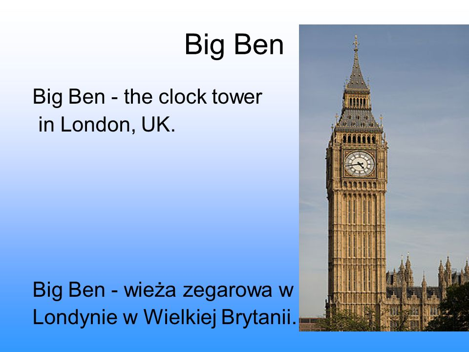Big Ben Big Ben - the clock tower in London, UK.