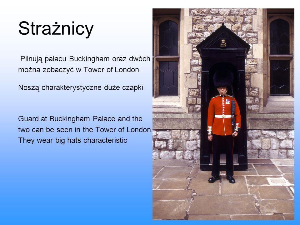 Strażnicy Pilnują pałacu Buckingham oraz dwóch