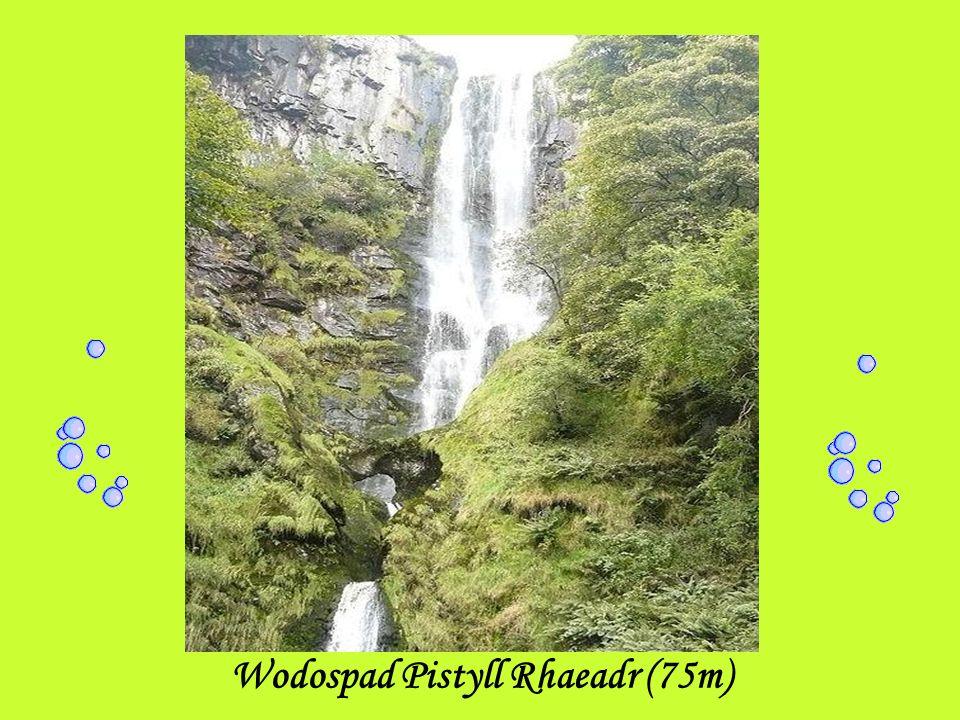 Wodospad Pistyll Rhaeadr (75m)