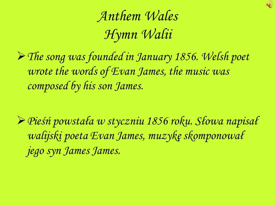 Anthem Wales Hymn Walii