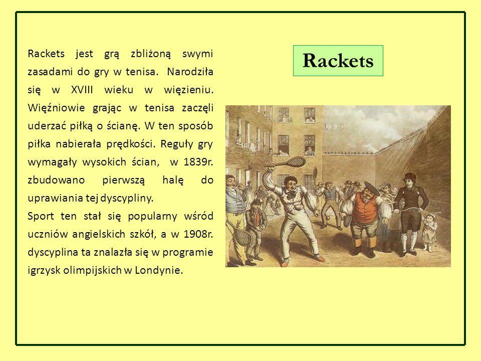Rackets jest grą zbliżoną swymi zasadami do gry w tenisa