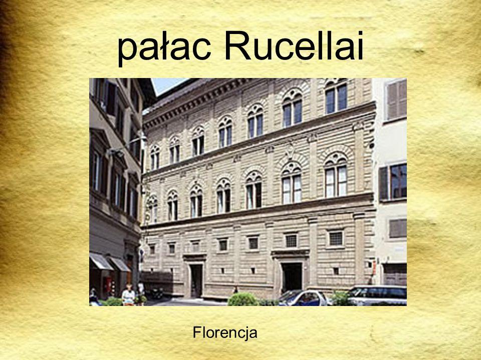 pałac Rucellai Florencja