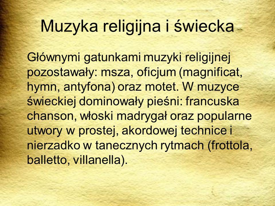 Muzyka religijna i świecka