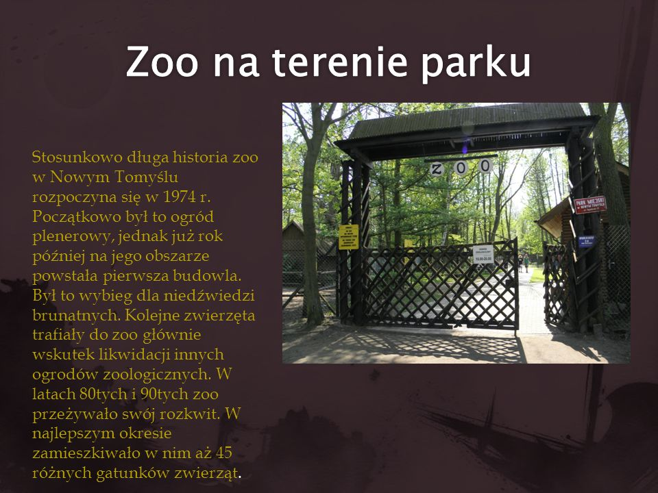 Zoo na terenie parku