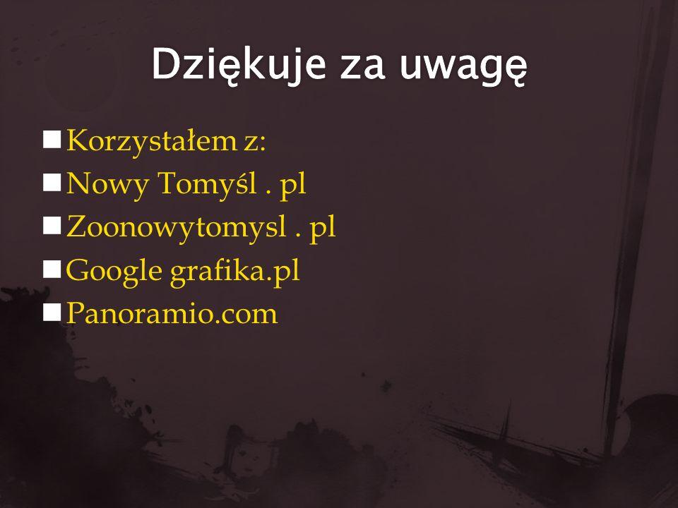 Dziękuje za uwagę Korzystałem z: Nowy Tomyśl . pl Zoonowytomysl . pl