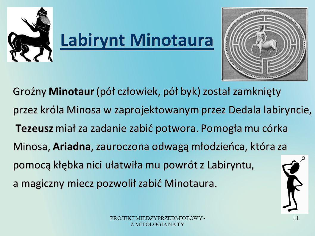 PROJEKT MIEDZYPRZEDMIOTOWY - Z MITOLOGIA NA TY
