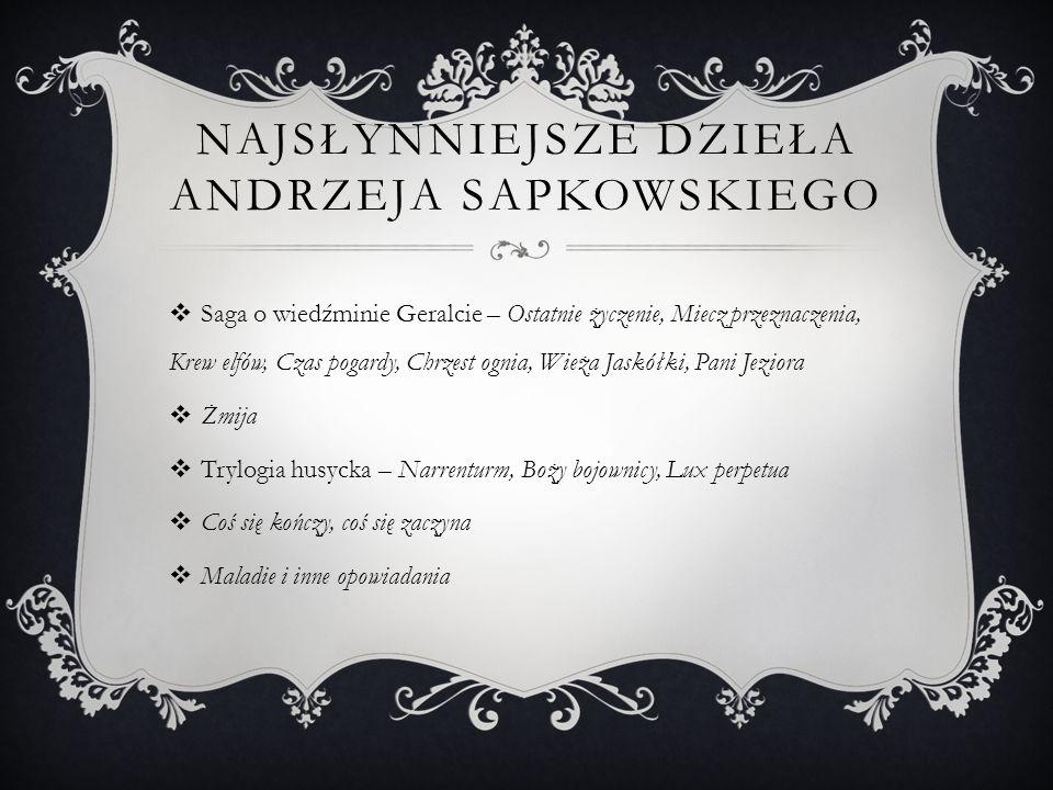 Najsłynniejsze dzieła Andrzeja Sapkowskiego