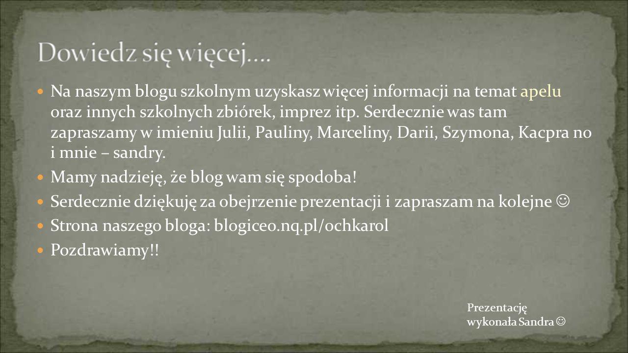 Mamy nadzieję, że blog wam się spodoba!