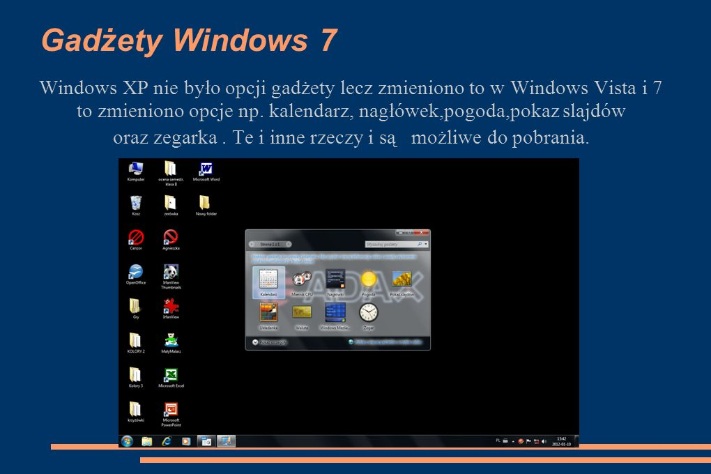 Gadżety Windows 7
