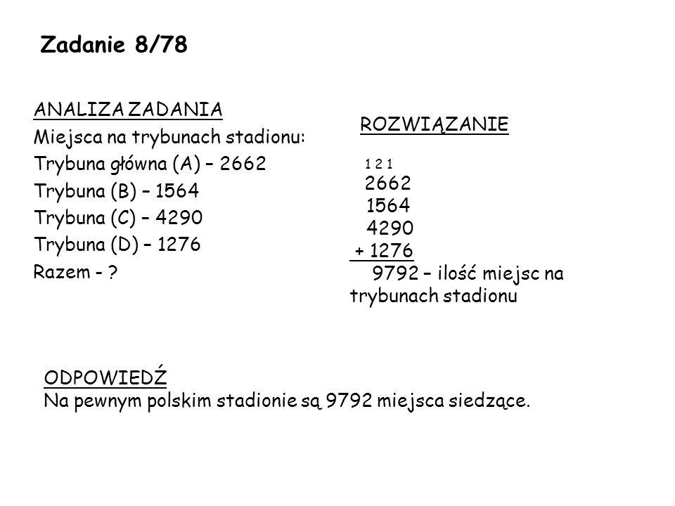 Zadanie 8/78 ROZWIĄZANIE.