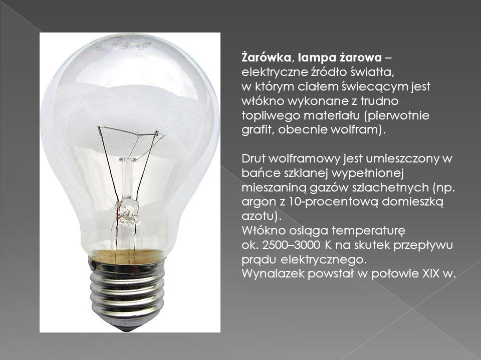 Żarówka, lampa żarowa – elektryczne źródło światła,