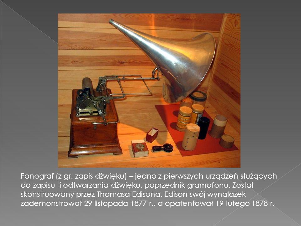 Fonograf (z gr.