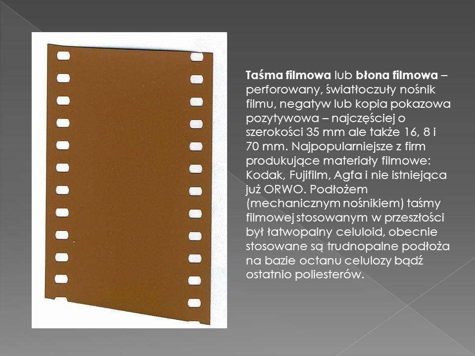 Taśma filmowa lub błona filmowa –