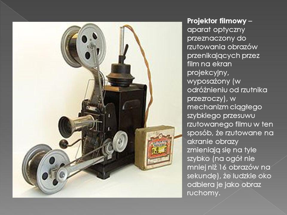 Projektor filmowy – aparat optyczny przeznaczony do rzutowania obrazów przenikających przez film na ekran projekcyjny, wyposażony (w odróżnieniu od rzutnika przezroczy), w mechanizm ciągłego szybkiego przesuwu rzutowanego filmu w ten sposób, że rzutowane na akranie obrazy zmieniają się na tyle szybko (na ogół nie mniej niż 16 obrazów na sekundę), że ludzkie oko odbiera je jako obraz ruchomy.