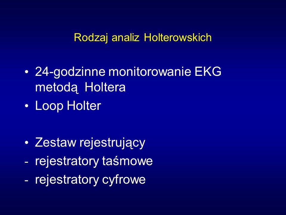Rodzaj analiz Holterowskich