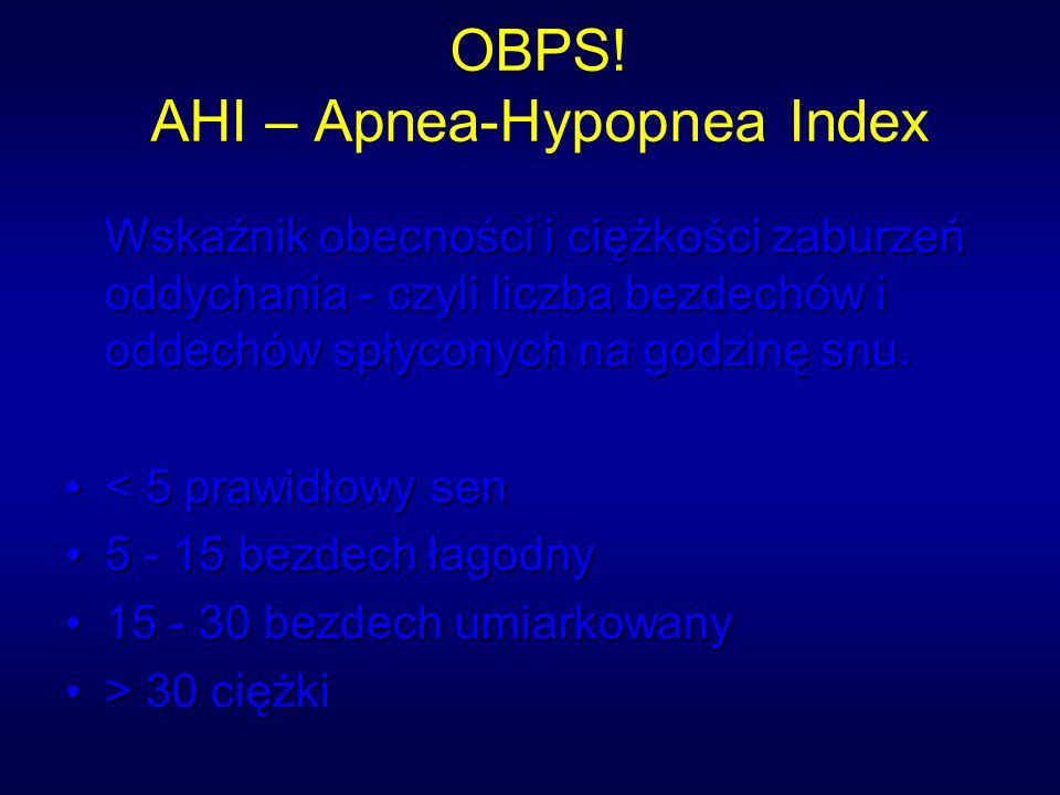 OBPS! AHI – Apnea-Hypopnea Index