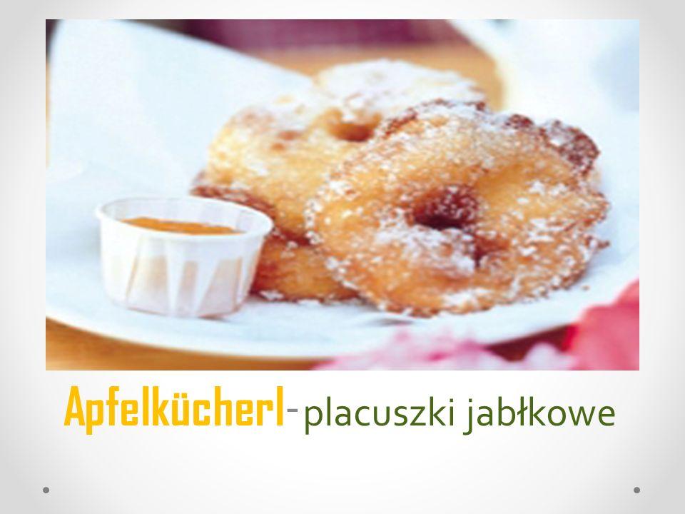 Apfelkücherl- placuszki jabłkowe