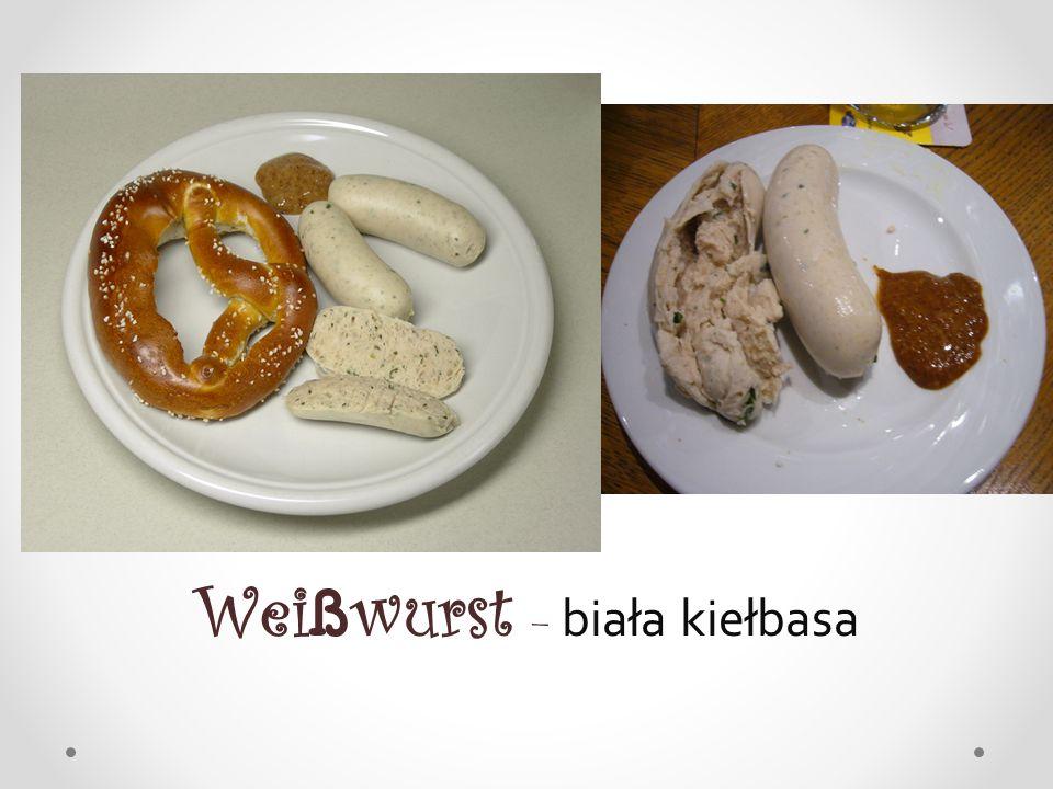 Weißwurst – biała kiełbasa