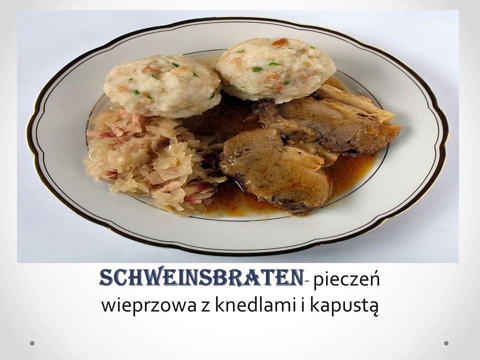 Schweinsbraten- pieczeń wieprzowa z knedlami i kapustą