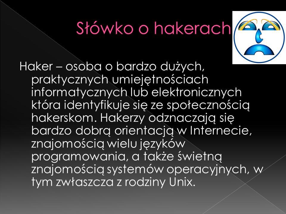 Słówko o hakerach