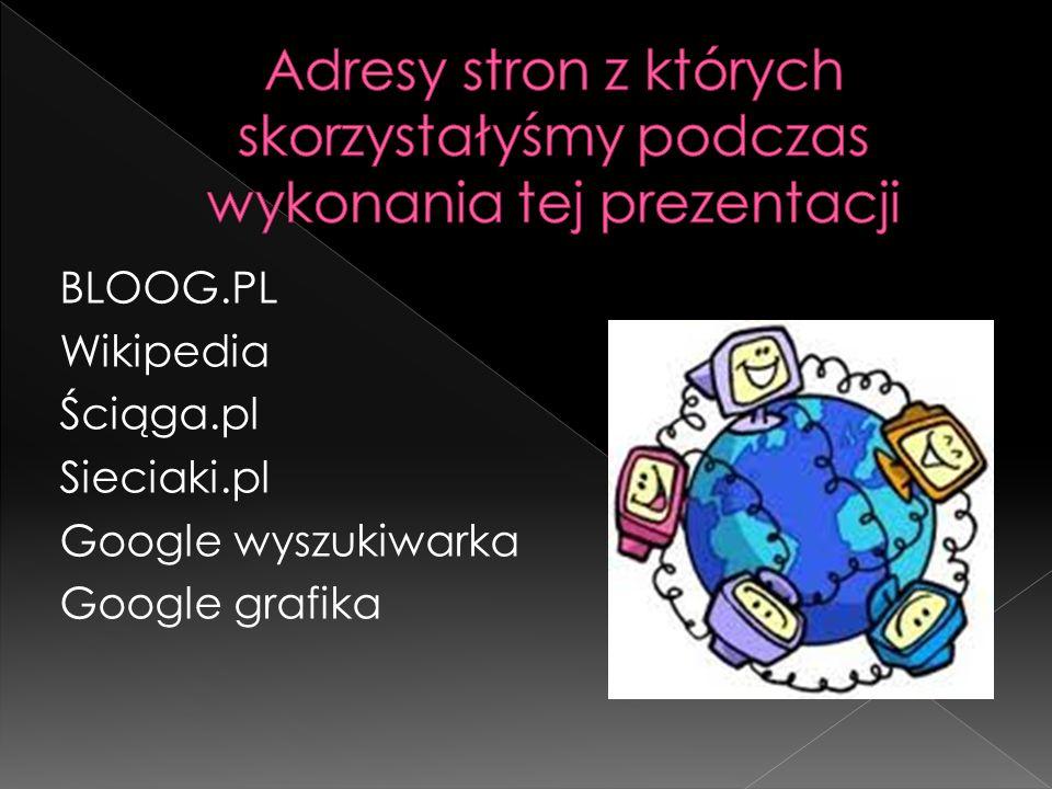 Adresy stron z których skorzystałyśmy podczas wykonania tej prezentacji