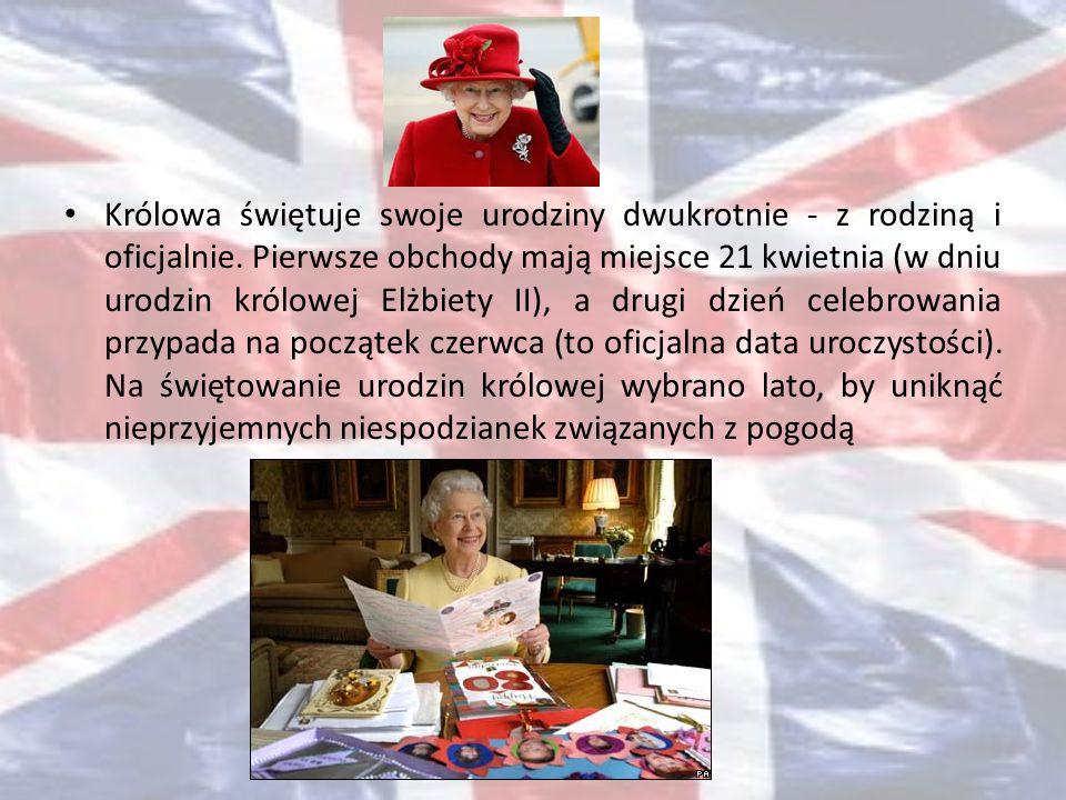 Królowa świętuje swoje urodziny dwukrotnie - z rodziną i oficjalnie