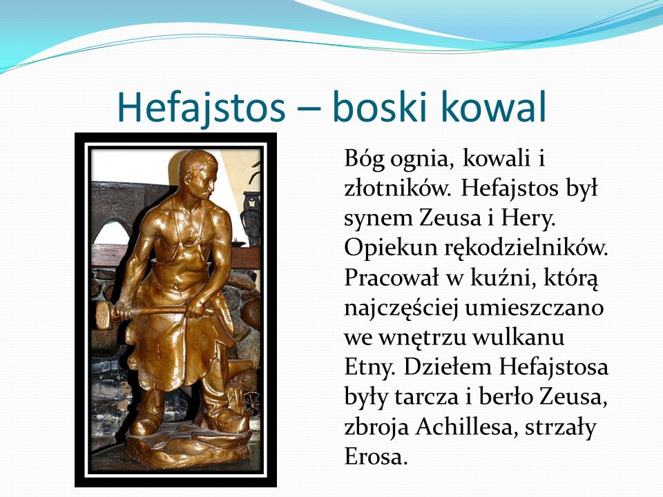 Hefajstos – boski kowal