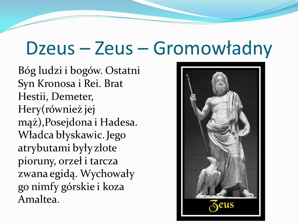 Dzeus – Zeus – Gromowładny