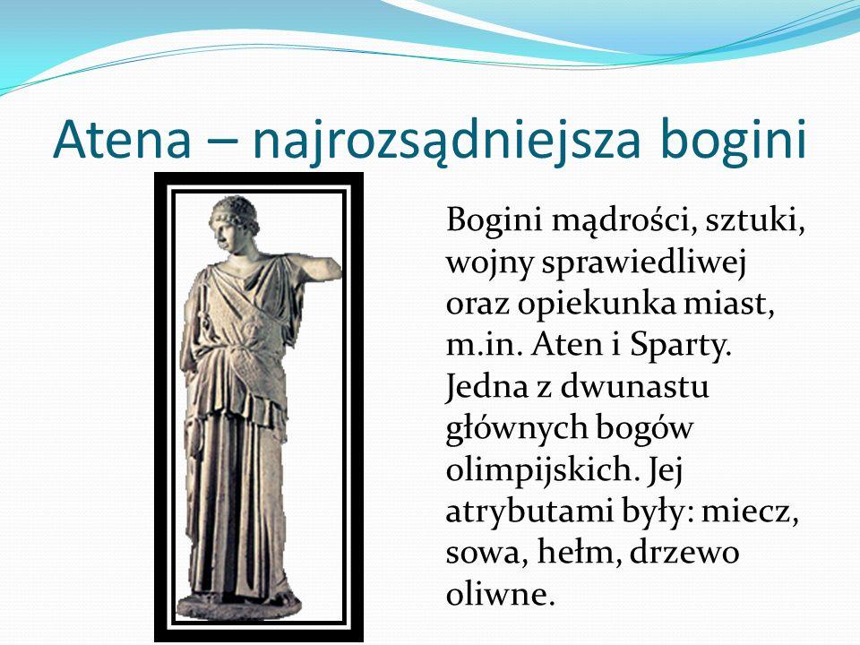 Atena – najrozsądniejsza bogini