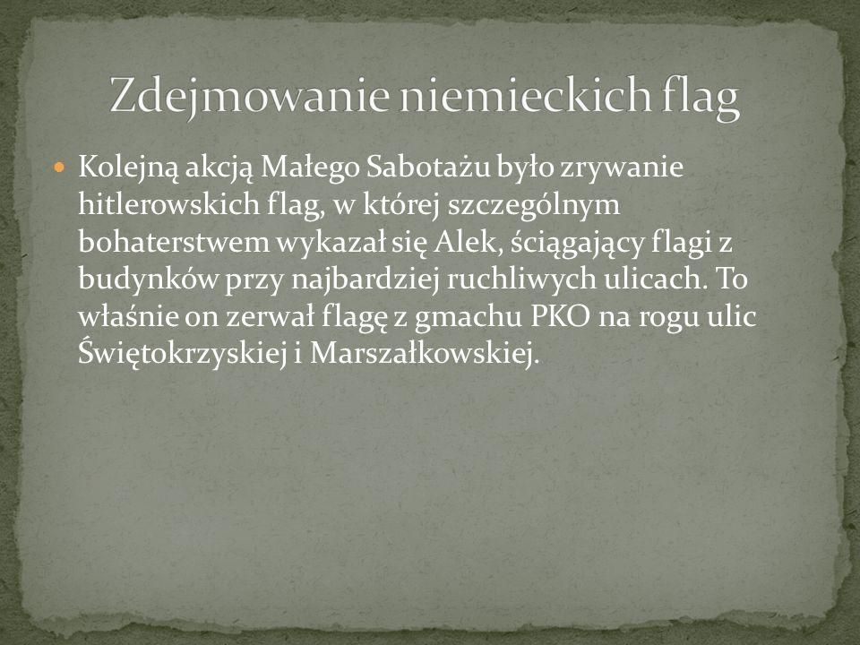 Zdejmowanie niemieckich flag