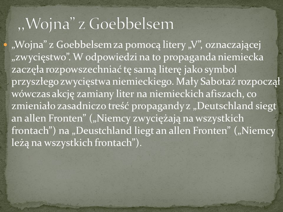 ,,Wojna z Goebbelsem