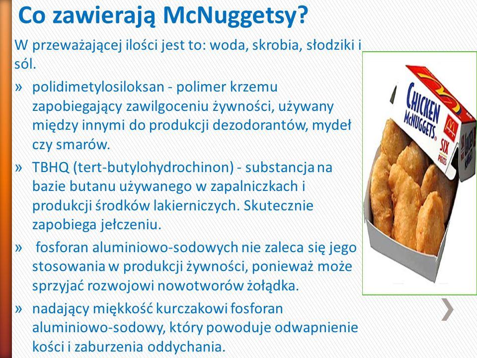 Co zawierają McNuggetsy