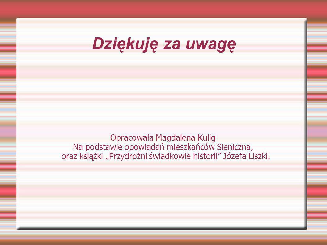 Dziękuję za uwagę Opracowała Magdalena Kulig