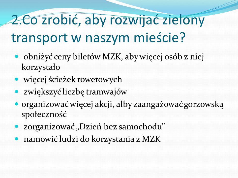 2.Co zrobić, aby rozwijać zielony transport w naszym mieście