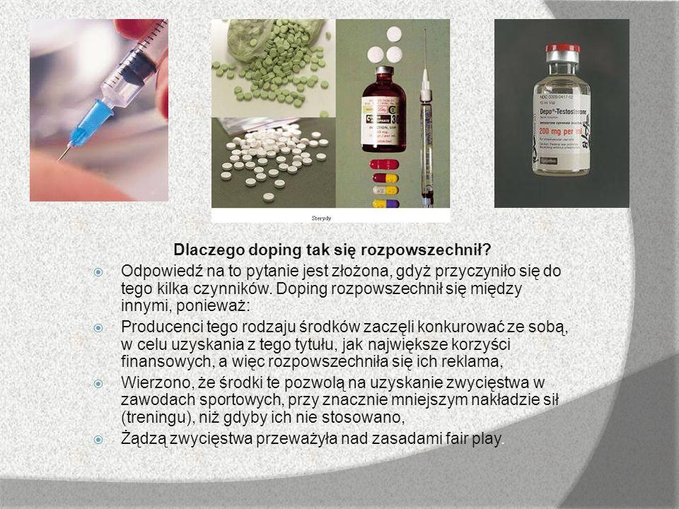 Dlaczego doping tak się rozpowszechnił