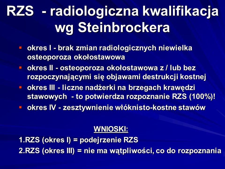 RZS - radiologiczna kwalifikacja wg Steinbrockera
