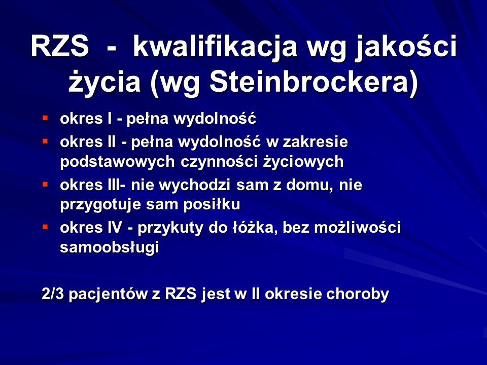RZS - kwalifikacja wg jakości życia (wg Steinbrockera)
