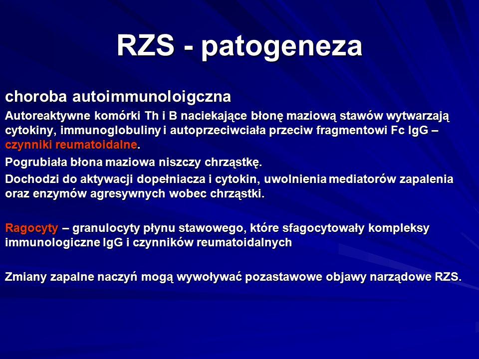 RZS - patogeneza choroba autoimmunoloigczna