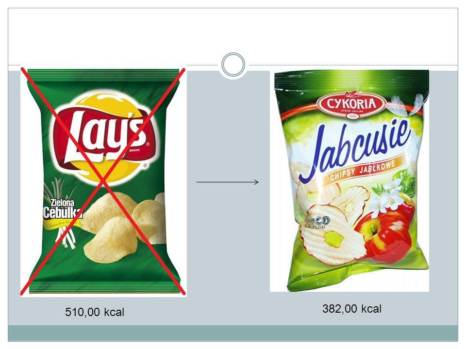 382,00 kcal 510,00 kcal