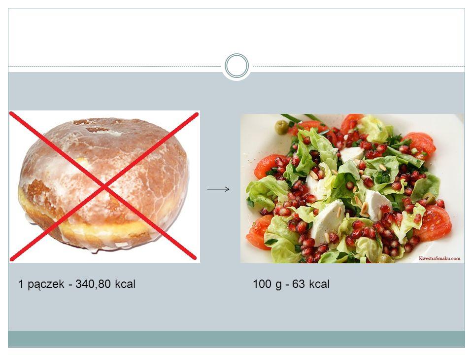 1 pączek - 340,80 kcal 100 g - 63 kcal