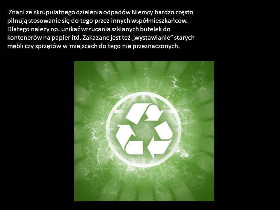 Znani ze skrupulatnego dzielenia odpadów Niemcy bardzo często pilnują stosowanie się do tego przez innych współmieszkańców.