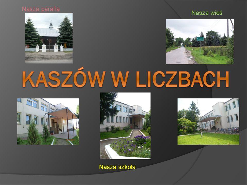 Nasza parafia Nasza wieś Kaszów w liczbach Nasza szkoła