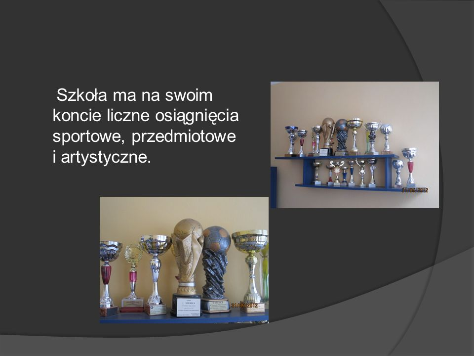 Szkoła ma na swoim koncie liczne osiągnięcia sportowe, przedmiotowe i artystyczne.