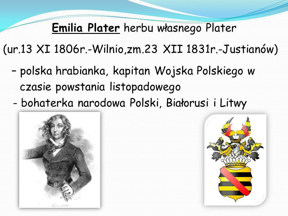 Emilia Plater herbu własnego Plater