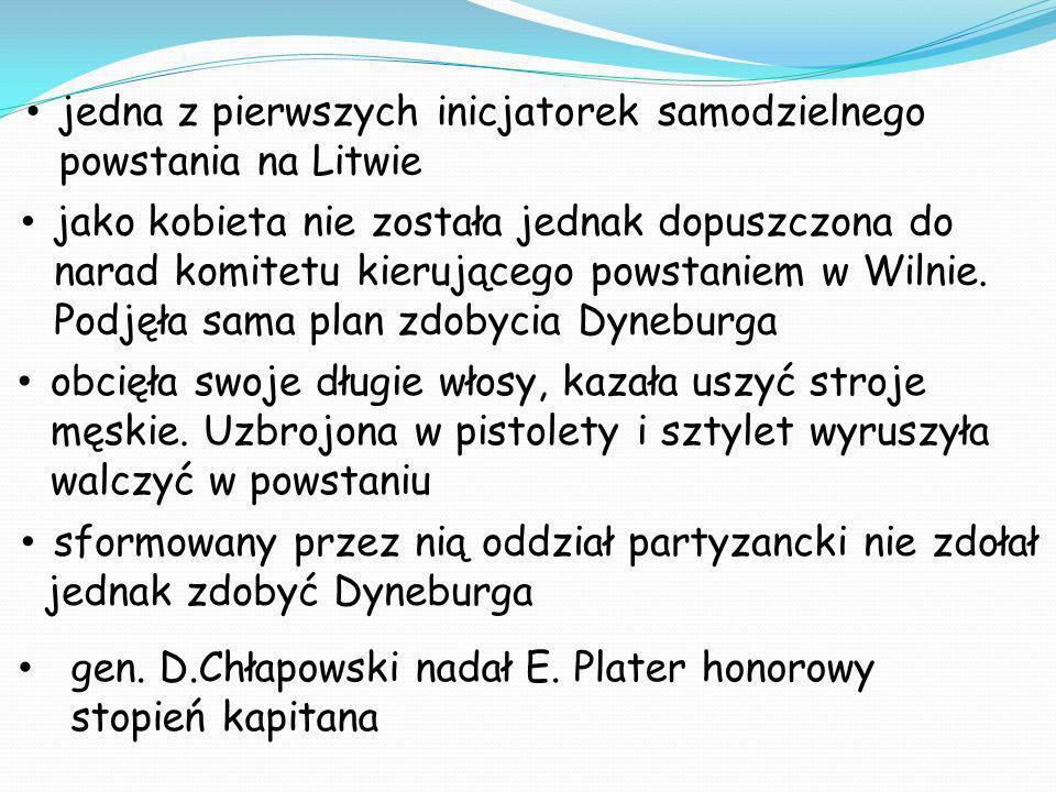 jedna z pierwszych inicjatorek samodzielnego powstania na Litwie